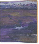 Purple Ocean Wood Print
