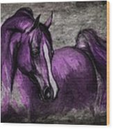 Purple One Wood Print by Angel  Tarantella