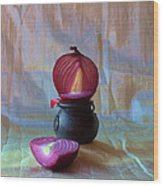 Purple Onion Wood Print