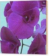 Purple Orchids 3 Wood Print
