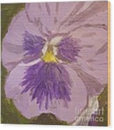 Purple Pansy 1 Wood Print