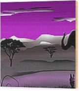 Purple Parkland Wood Print