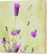 Purple Passion Texture Wood Print