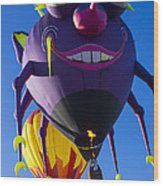 Purple People Eater And Friend Wood Print