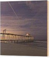 Purple Pier Wood Print