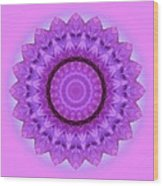 Purple Pink Kaleidoscope Wood Print