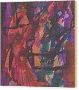 Purple Prayer Wood Print by Beena Samuel