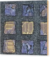 Purple Prism Glass In A Square Wood Print