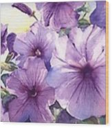 Purple Profusion Wood Print