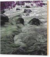 Purple River Wood Print