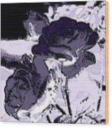 Purple Roses Wood Print