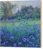 Purple Season Wood Print