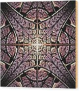 Purple Shield Wood Print