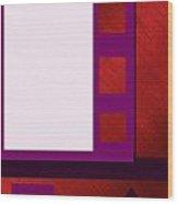 Purple Shutters Wood Print