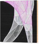 Purple Silk Scarf Wood Print