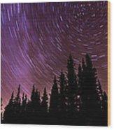 ...purple Sky Wood Print