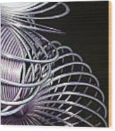 Purple Slinky Wood Print