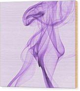 Purple Smoke Wood Print