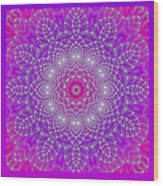 Purple Space Flower Wood Print