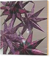 Purple Star Wood Print