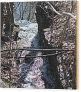 Purple Stream Wood Print