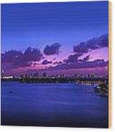 Purple Sunset Wood Print by Michael Guirguis