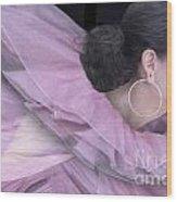 Purple Swan Wood Print