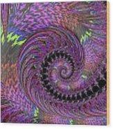 Purple Swirl Wood Print