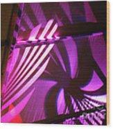Purple Swirls Wood Print by Eva Kato