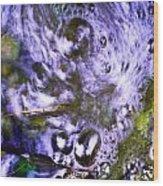 Purple Swoosh Wood Print