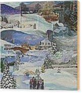 Purple Twilight on Snow- SOLD Wood Print