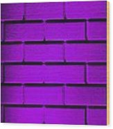 Purple Wall Wood Print