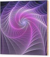 Purple Web Wood Print