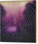 Purple Web Of Lies Wood Print