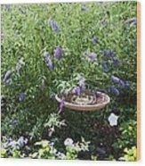 Purple Wild Flowers 1 Wood Print