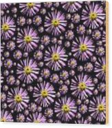 Purplish And Daisy Like Wood Print