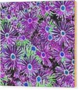 Purplish Posies 02 - Photopower 2934 Wood Print