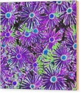 Purplish Posies 03 - Photopower 2935 Wood Print