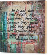 Pursuing Dreams Wood Print