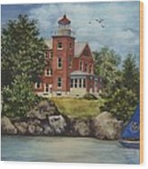 Put-in-bay Lighthouse Wood Print