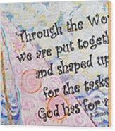 Put Together Wood Print