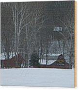 Putnam County Farm in Winter Wood Print