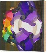 Puzzle Lamp Wood Print