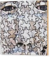 Puzzled Man No2 Wood Print