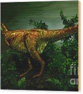 Pycnonemosaurus Was A Carnivorous Wood Print
