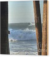 Pylon Surfer Wood Print