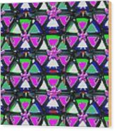 Pyramid Dome Triangle Purple Elegant Digital Graphic Signature   Art  Navinjoshi  Artist Created Ima Wood Print