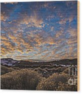 Pyramid Lake Sunset Wood Print