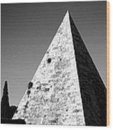 Pyramid Of Cestius Wood Print by Fabrizio Troiani