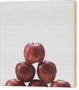 Pyramid Of Organic Apples Wood Print